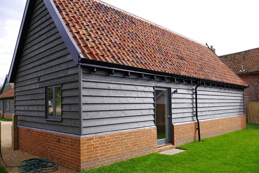 Timber frame extension in suffolk
