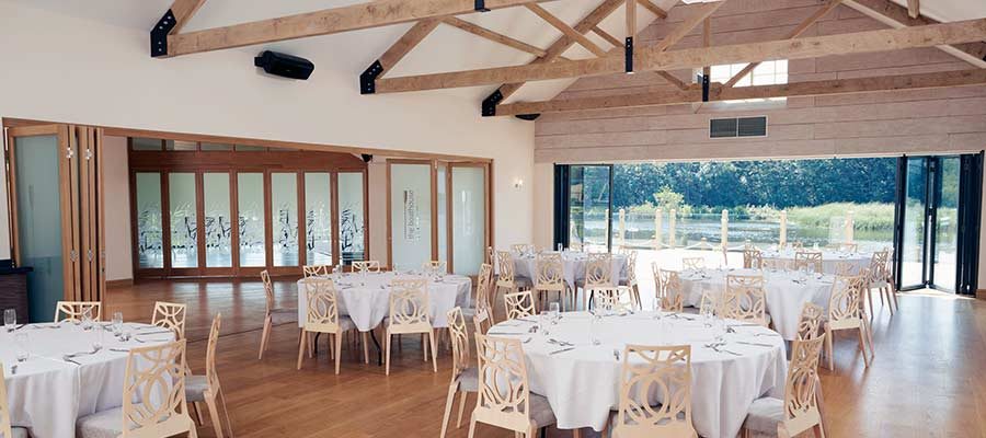 Construction of timber framed wedding venue